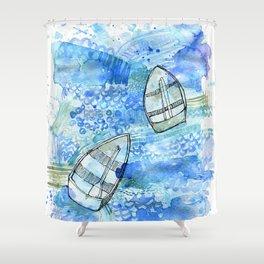 Bobbing boats Shower Curtain