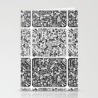 grid Stationery Cards featuring Grid by Cloz000