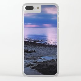 Evening sunset Clear iPhone Case