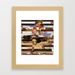 Glitch Pin-Up Redux: Daisy Framed Art Print