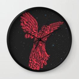 Gallito de las rocas peruvian bird red version by #Bizzartino Wall Clock