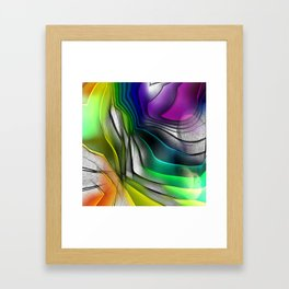 COLOR COVERGECE ABSTRACT Framed Art Print