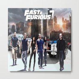 fast and furious7,racing car,movie Metal Print