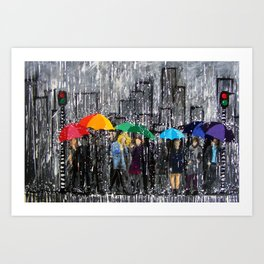 Rainy Day Reflecting Art Print