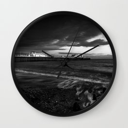 Worthing sea drama Wall Clock