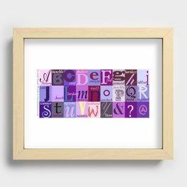 Scottish Snash Words Alphabet Recessed Framed Print