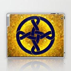 Celtic Knot Blue & Gold Laptop & iPad Skin