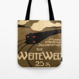 Vintage poster - Die Weite Welt Tote Bag