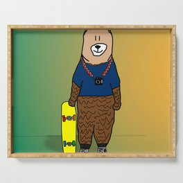 sk8r bear Serving Tray