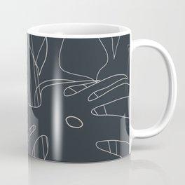 Monstera No2 Black Edition Coffee Mug