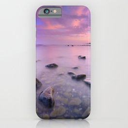 """Pink Sunset. Mediterranean sea."" iPhone Case"