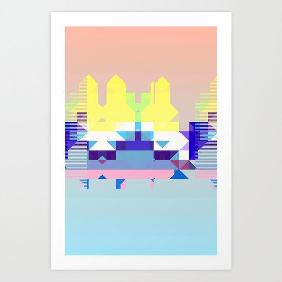 Summer City Art Print
