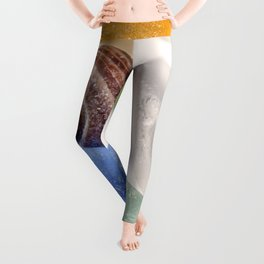 Tiny sea shell and Beach Glass Leggings