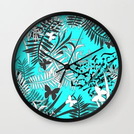 Turquoise tropical Wall Clock