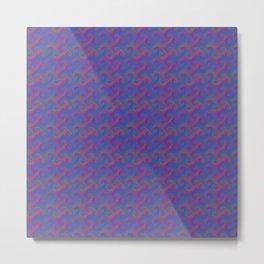 Colorful Trippy Swirly Pattern Metal Print