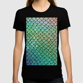 Colorful Glitter Mermaid Scales II T-shirt
