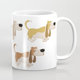 Basset Hound Colors Illustration Coffee Mug