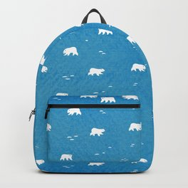 Polar Bears Pattern Backpack