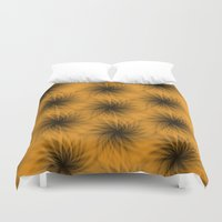 shadow Duvet Covers featuring Shadow by Looly Elzayat