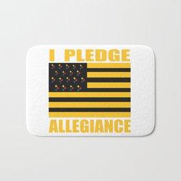 Pittsburgh Steeler Flag I Pledge Allegiance Gift Ideas Bath Mat