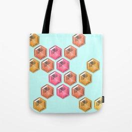 Summer Gradient Hexagon Gemstones Tote Bag