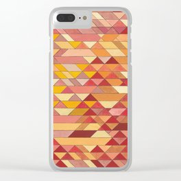 Triangle Pattern no.4 Warm Colors Red and Yellow Clear iPhone Case