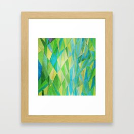 Cool Green Framed Art Print