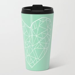 Abstract Heart Mint Travel Mug