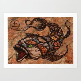 Koi Series, Elementals-Earth Art Print
