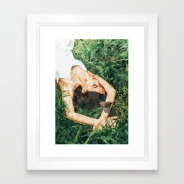 Jungle Vacay #painting #portrait Framed Art Print