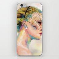 jennifer lawrence iPhone & iPod Skins featuring Jennifer Lawrence by Pandora's Box Design Co.