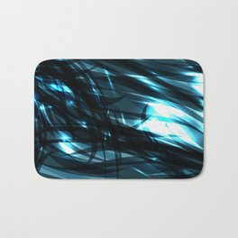 glowing cosmic azure background of cobalt metal lines. For registration of paper or banners. Bath Mat