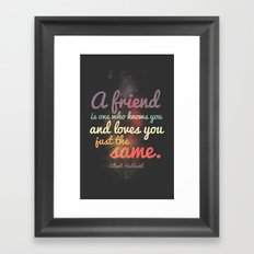 Friendship | Elbert Hubbard Framed Art Print