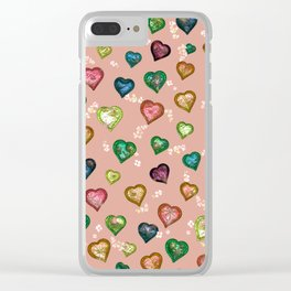 Lovely and Cute C peach Clear iPhone Case