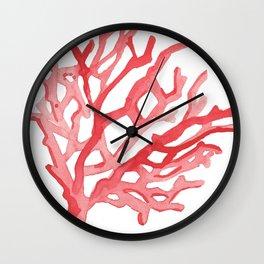 Red Coral no.3 Wall Clock