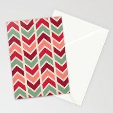 zig zag (red) Stationery Cards
