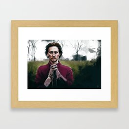 Henry V praying Framed Art Print