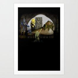 Kermit the Hut Art Print
