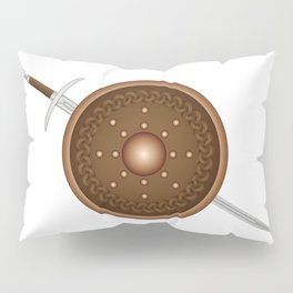 Claymore and Shield Pillow Sham