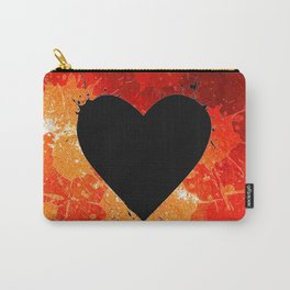 Red Hot Heart Carry-All Pouch