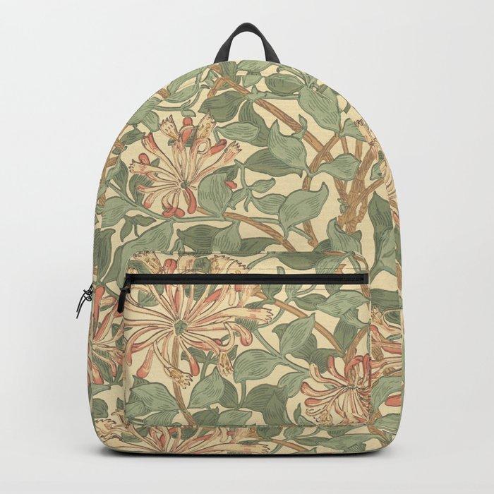 William Morris Honeysuckle Design Backpack