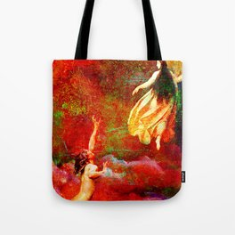 The farewells of the siren to the angel Uriel Tote Bag