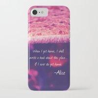 alice wonderland iPhone & iPod Cases featuring Wonderland by Josrick