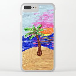 Palm Sunrise Clear iPhone Case