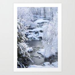 Waterfalls in Frelighsburg Art Print