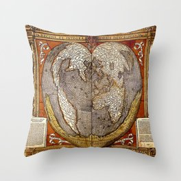Heart of the World Throw Pillow