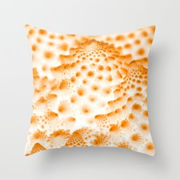 Orange Romanesco Rapture Throw Pillow