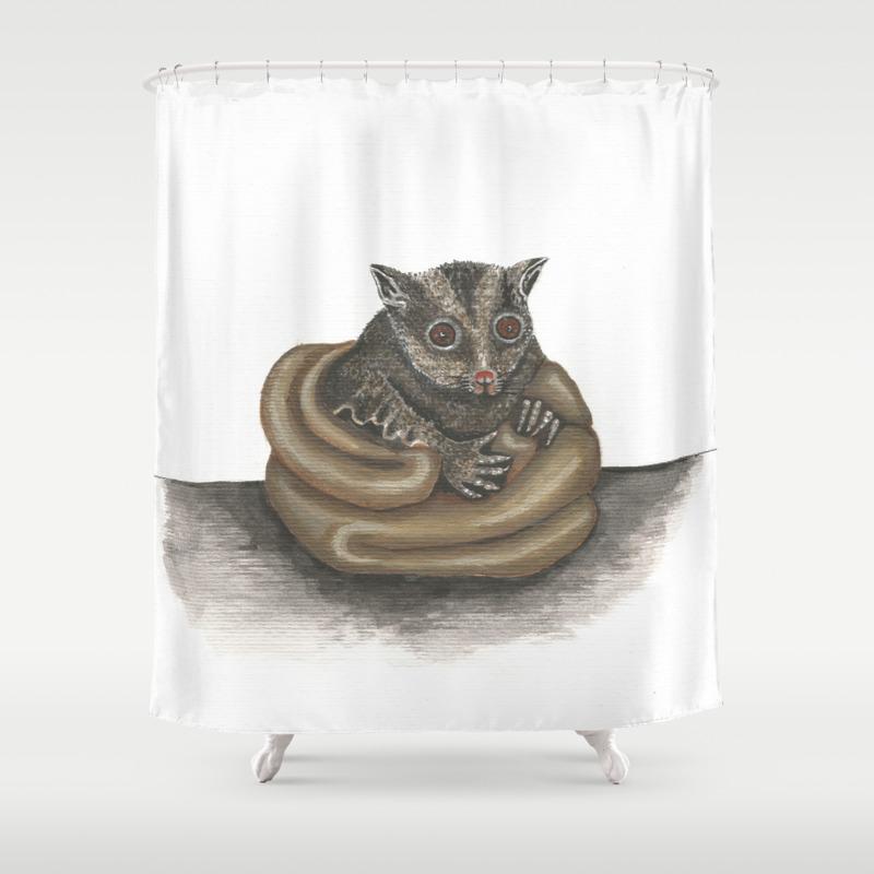 Cute Sugar Glider Shower Curtain