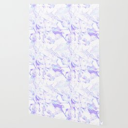 Pastel Marble Purple Blue Glitter Wallpaper