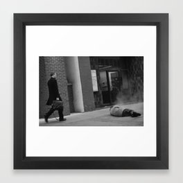 walking by Framed Art Print